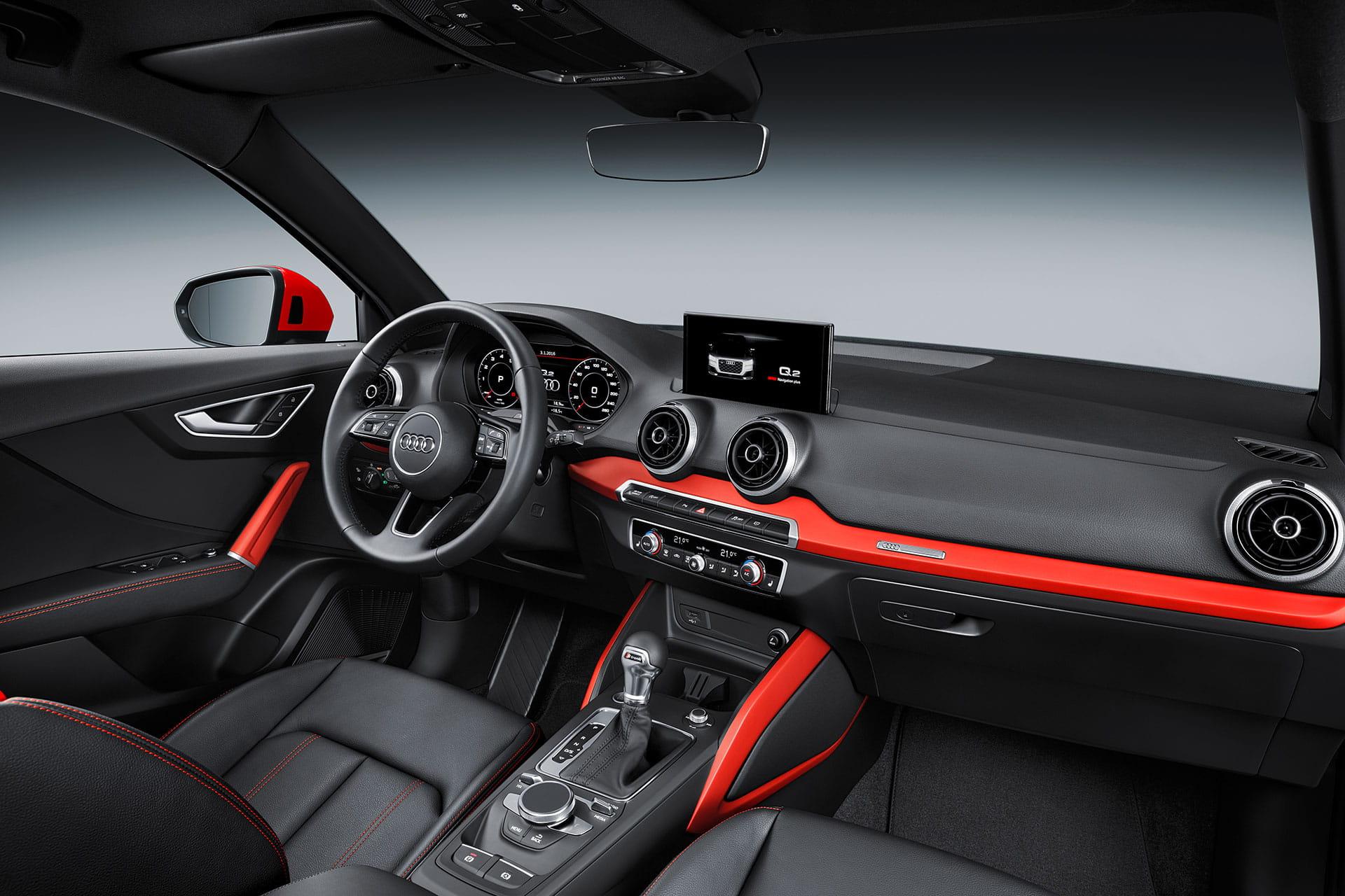 Renting Audi Q2 Salpicadero
