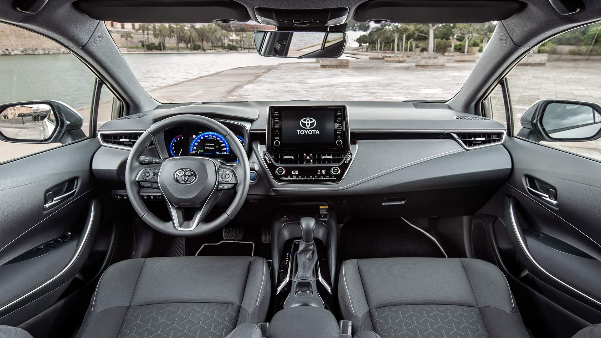 renting Toyota Corolla interior