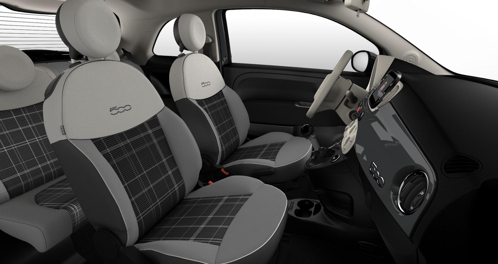Renting Fiat 500 Lounge Interior