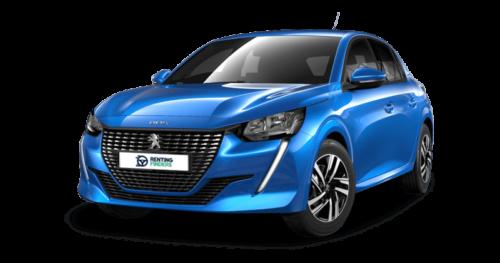 Renting Peugeot e208-azul-vertigo
