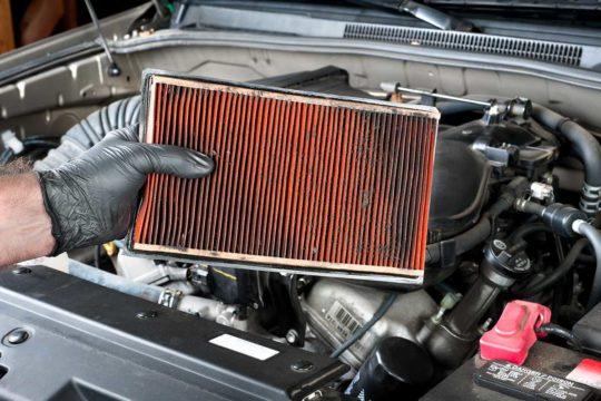 Filtros de aire en el coche