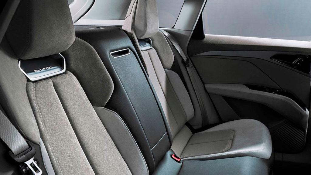 Espacio interior de lujo del Audi Q4 e-tron