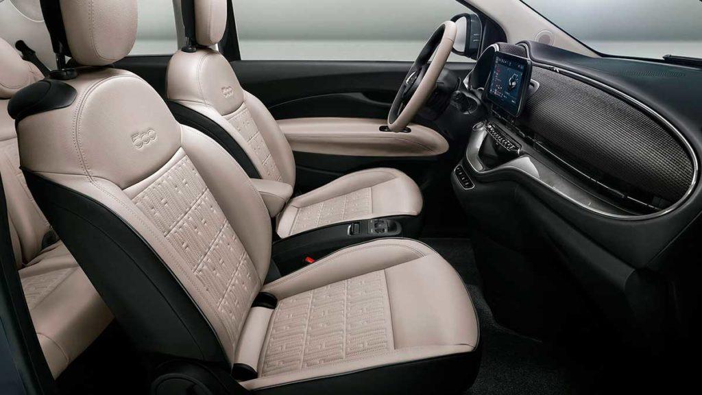Interior del Fiat 500e