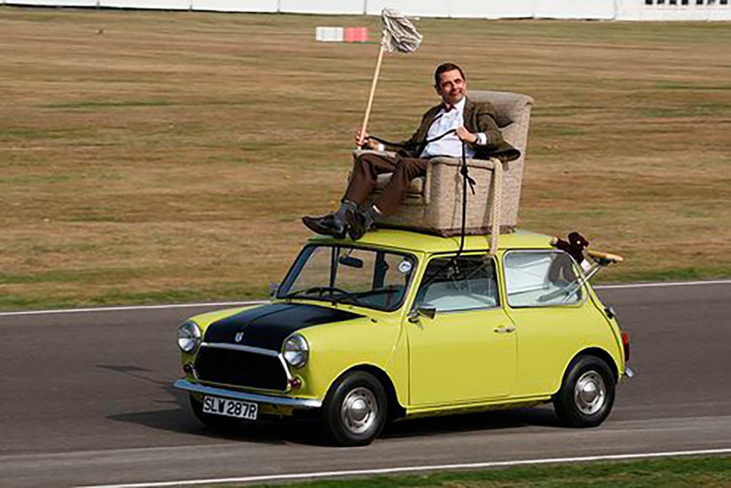 British Leyland Mini 1000 de 1967 en Mr Bean