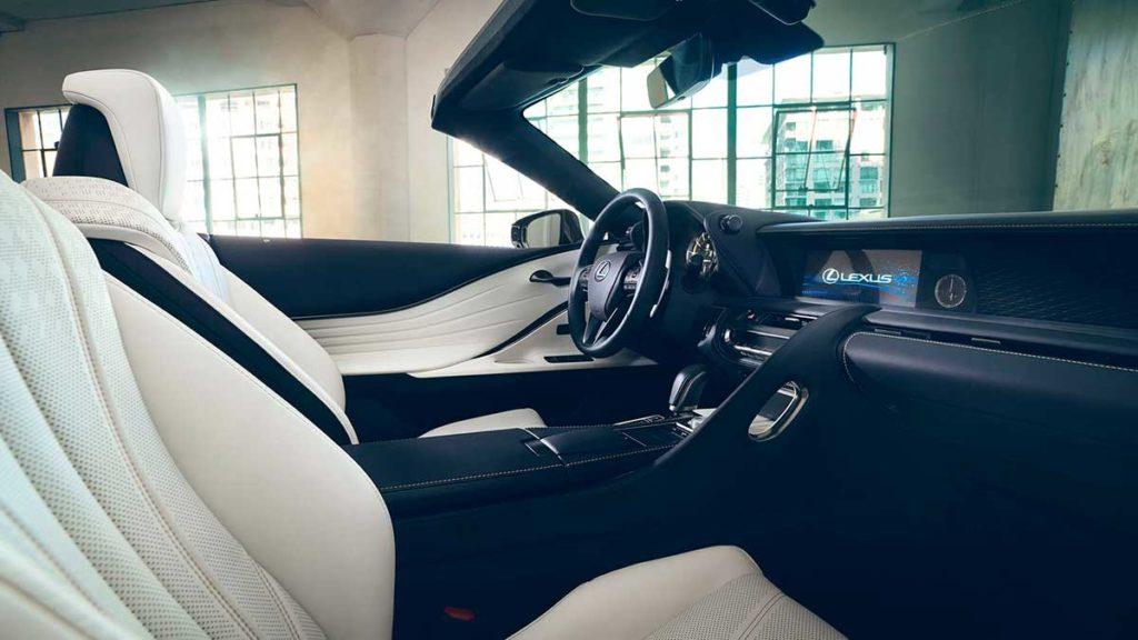 Equipamiento del Lexus LC 500 Cabrio
