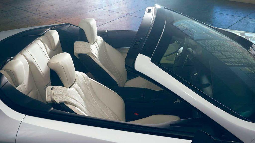 Diseño interior del Lexus LC 500 Cabrio