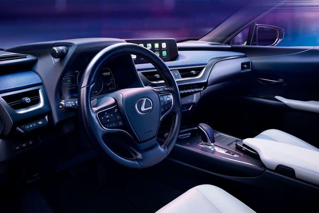 Diseño interior del Lexus UX 300e