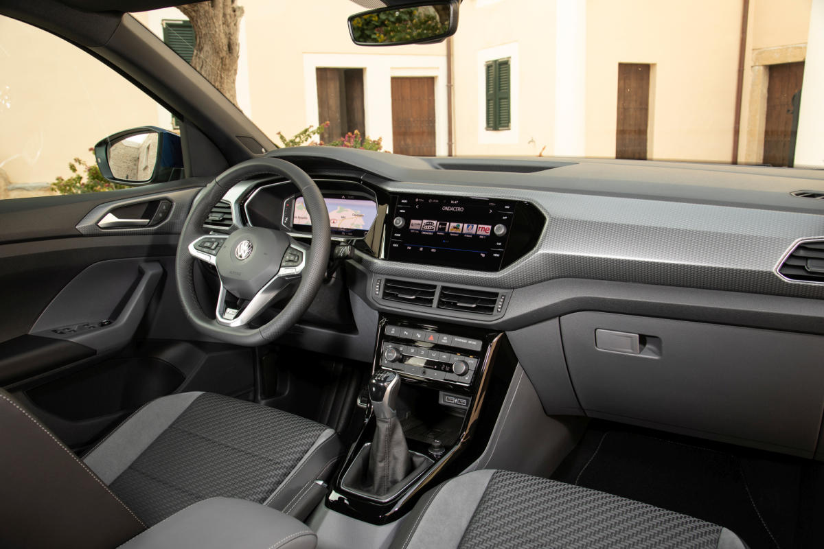 renting Volkswagen T-Cross interior