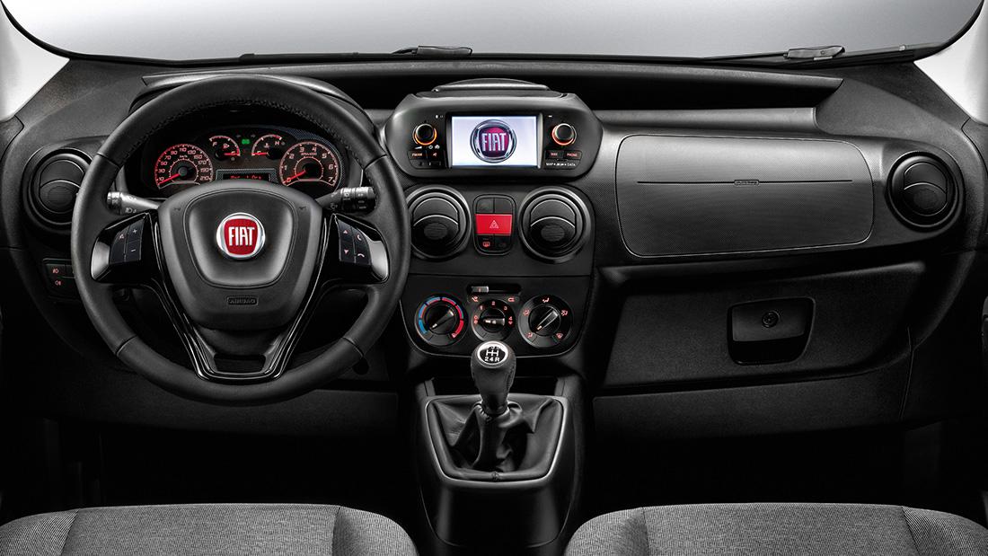 renting Fiat Fiorino interior