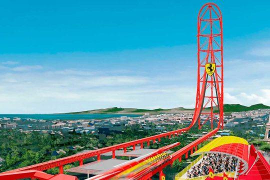 Ferrari Land, un parque de atracciones a visitar por los amantes del motor