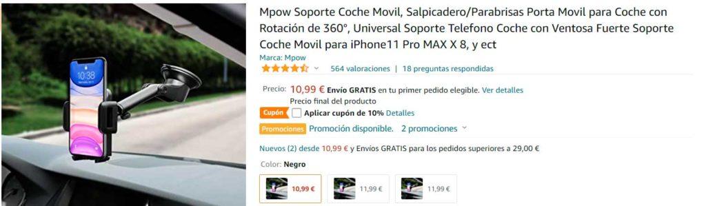 Soporte de móvil con ventosa marca Mpow