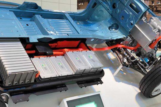 Batería de iones de litio de un coche eléctrico