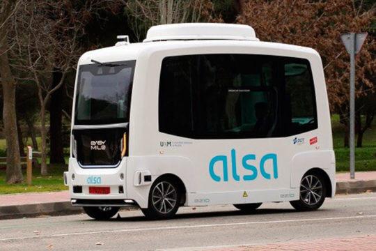 El primer autobús autónomo completamente eléctrico de España