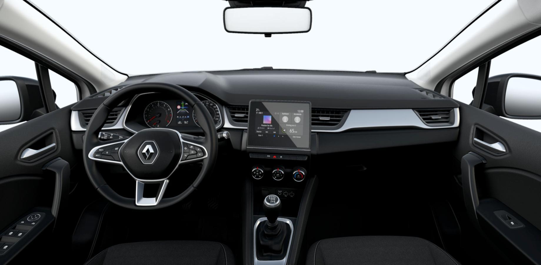 Renting Renault Captur Intens Interior