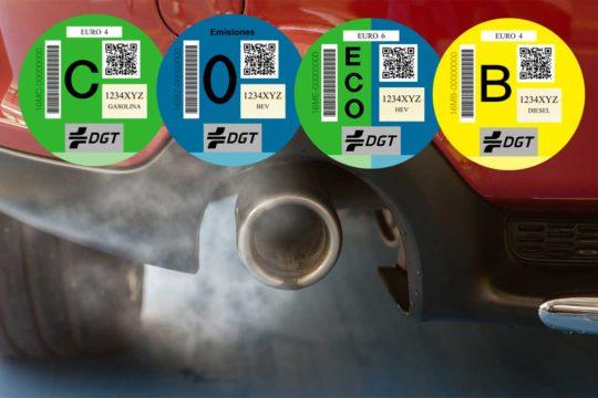 Las nuevas etiquetas medioambientales de la DGT