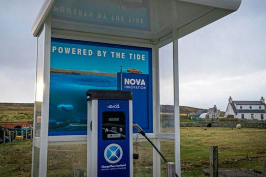 Los coches eléctricos pueden cargarse gracias a las mareas en Escocia